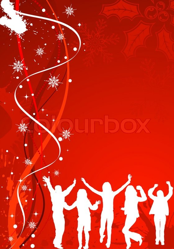 Christmas Background With Wave Pattern Ampsilhouettes