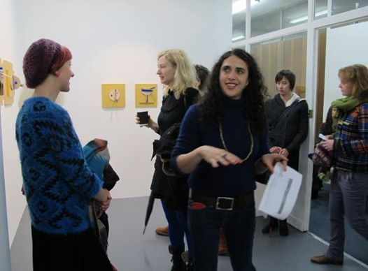Chantal Wynter hosting an 'art crawl'. Image courtesy of Five Walls Projects.