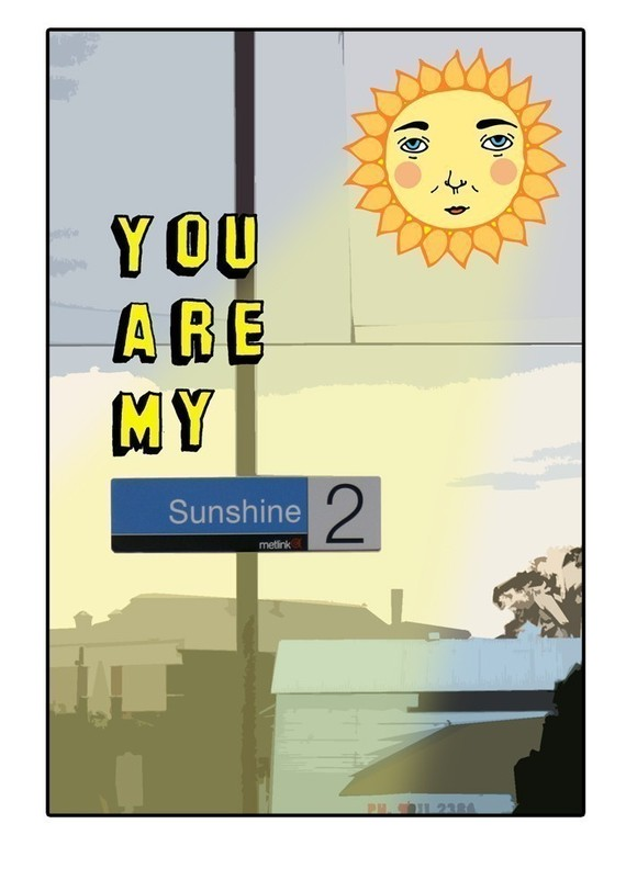 Able & Game - You Are My Sunshine - Melbourne Card