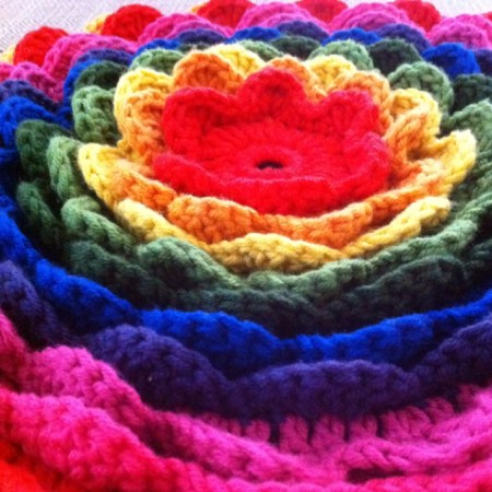 Blooming Flower Cushion by workshop facilitator Shalini Akhil.