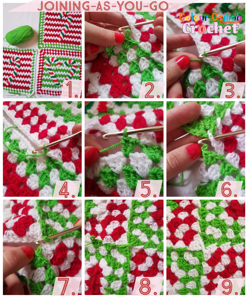 This is a free crochet pattern made with love to all of you who are looking for easy, colourful and festive Christmas candy cane blanket or throw ideas.