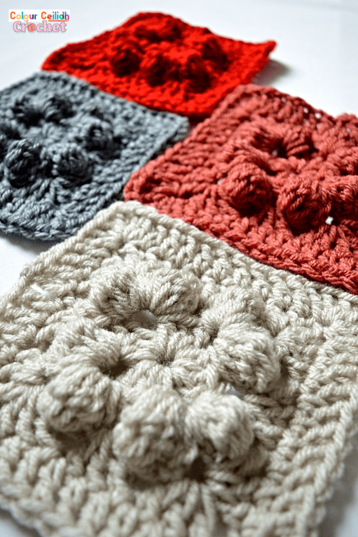 Pick your favourite shade for this easy crochet granny square cardigan which provides surface interest through bobble stitches that look great even when made all in one color. The pattern is free, it comes in 9 sizes & includes a YouTube video as well.