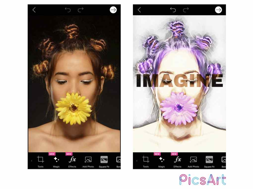 PicsArt Before and After with logo scaled