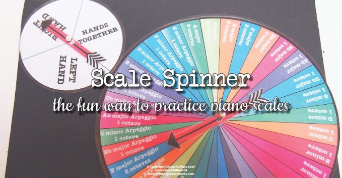 Gamify Piano Scales with Scale Spinners