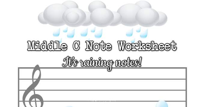 It's Raining Notes! Middle C Position Worksheet