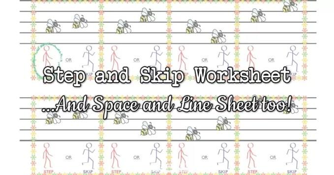 Step or Skip & Space or Line Music Worksheets