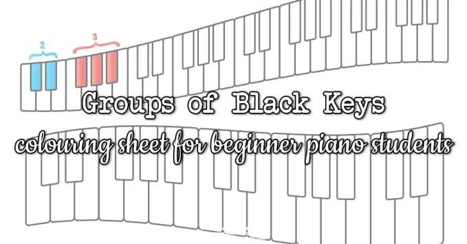 Groups of Black Keys Worksheet