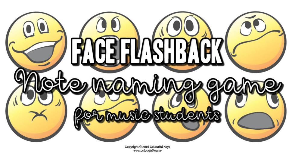 Face flashback music theory game