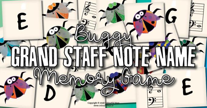 Blind Bugston – A grand staff note name memory game