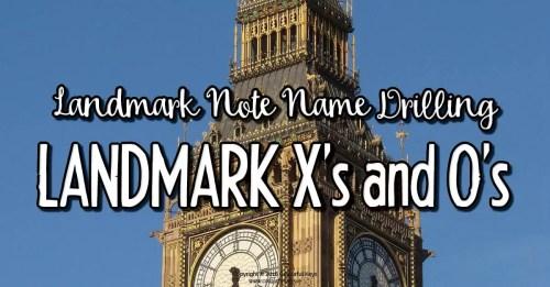 Landmark note naming game