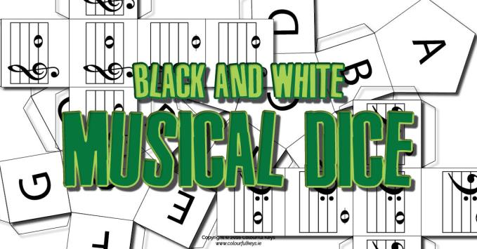 Black and White Musical Dice – Randomise for Tons of Fun
