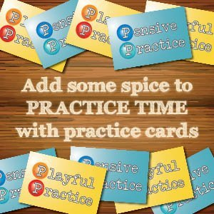 Piano practice cards