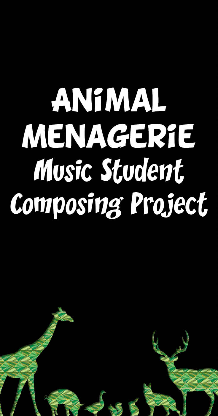 Animal menagerie music student composing project