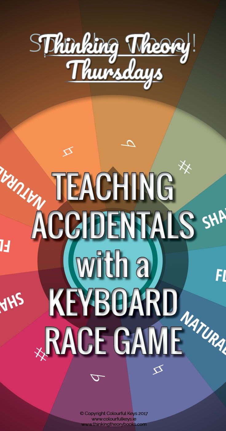 Accidentals game for piano students - learn about sharps and flats the fun way