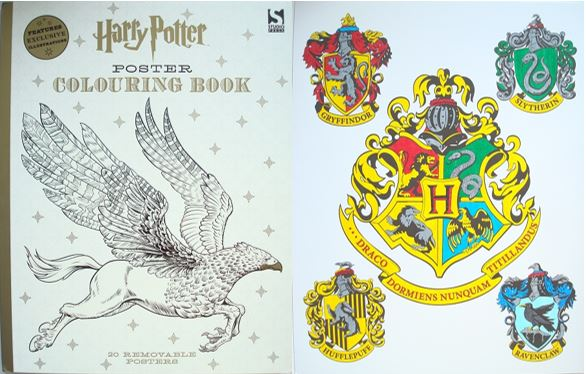 Harry Potter Poster Colouring Book A Review Colouring
