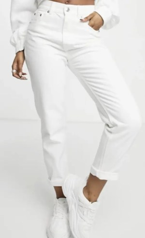 Pull and Bear white jeans