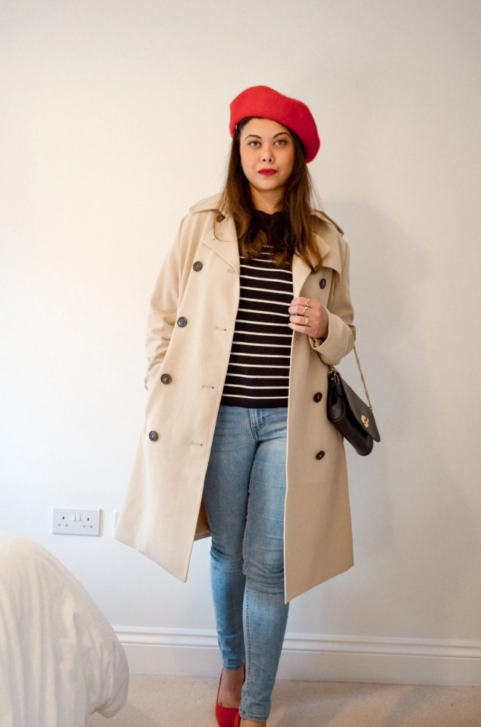 Trench coat outfit - French style elements and how to style them for Spring or Autumn