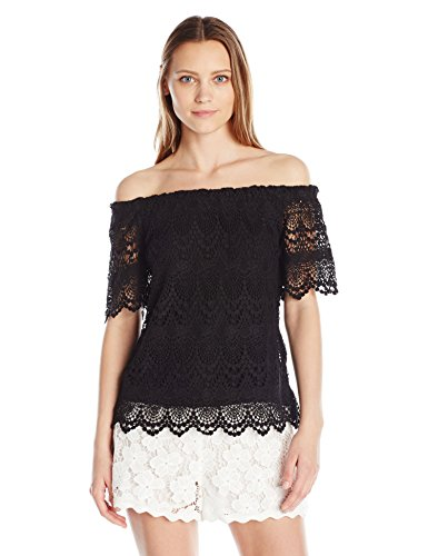 Women's Lace Off the Shoulder Top by VELVET BY GRAHAM & SPENCER