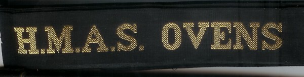HMAS OVENS' - RAN Tally Band