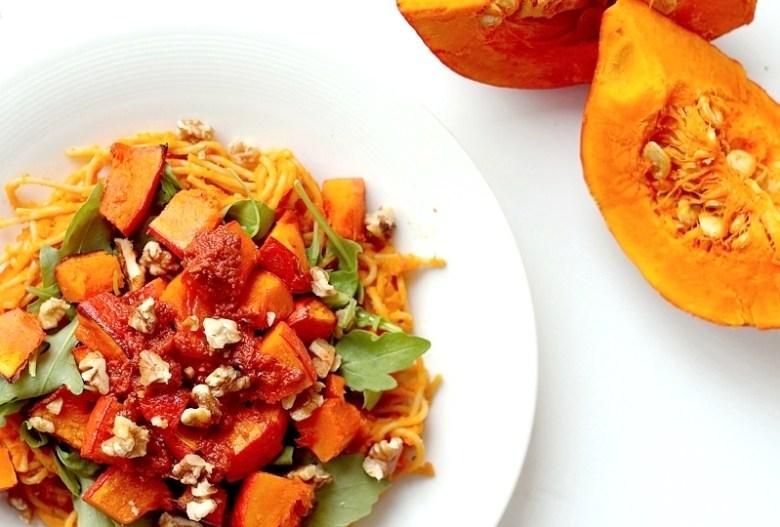 Recept vegan pittige pompoenpasta 2