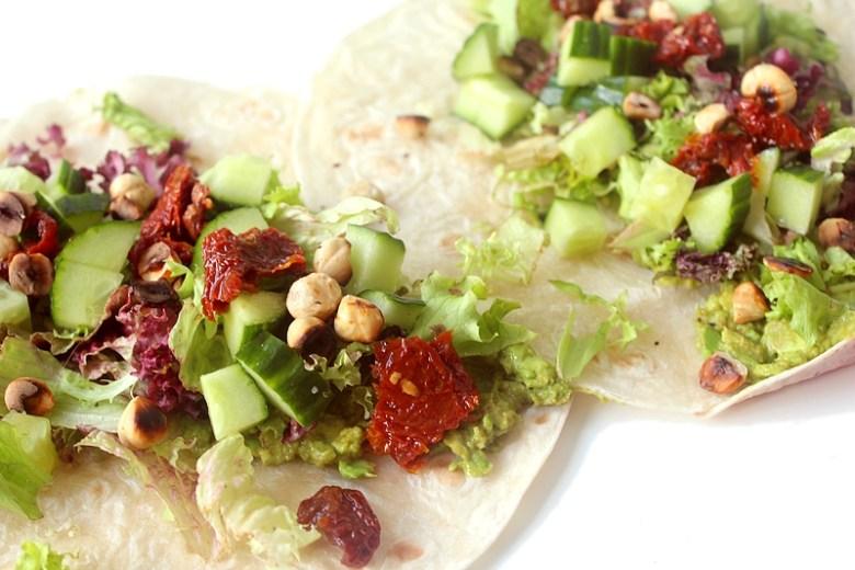Recept 3x vegan wraps guacamole