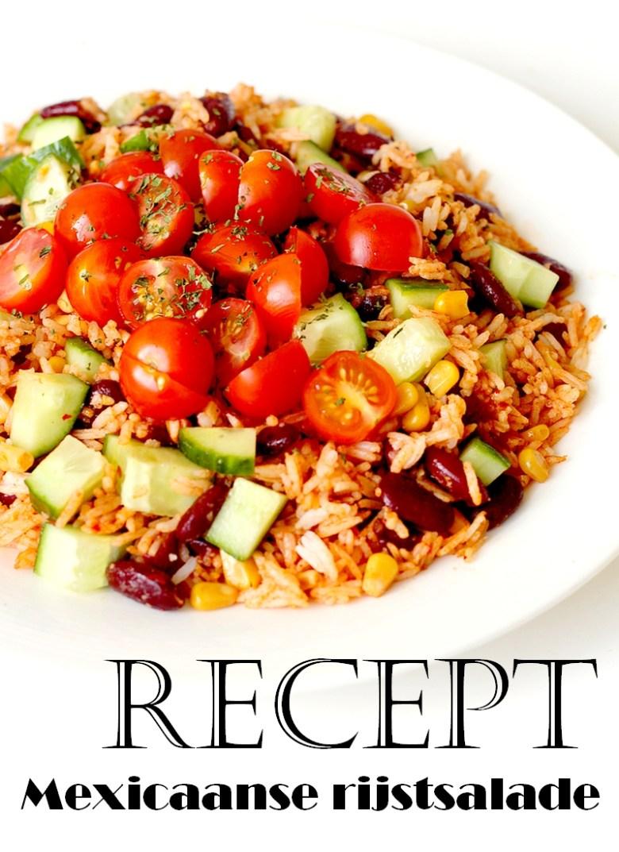 Recept vegan Mexicaanse rijstsalade met kidneybonen Pinterest