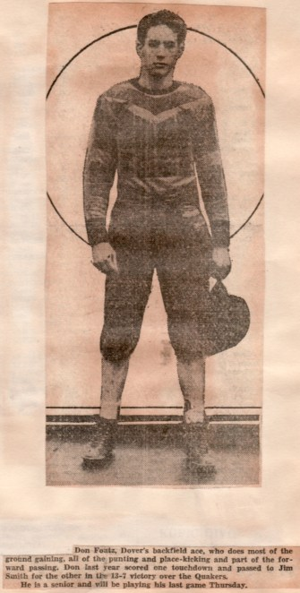 1931 Dover Crimsons halfback Don Foutz