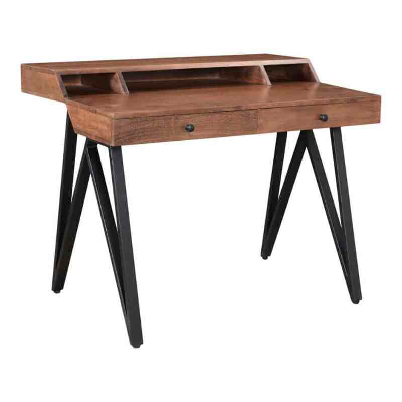wood desk writing