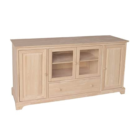 unfinished wood tv stand