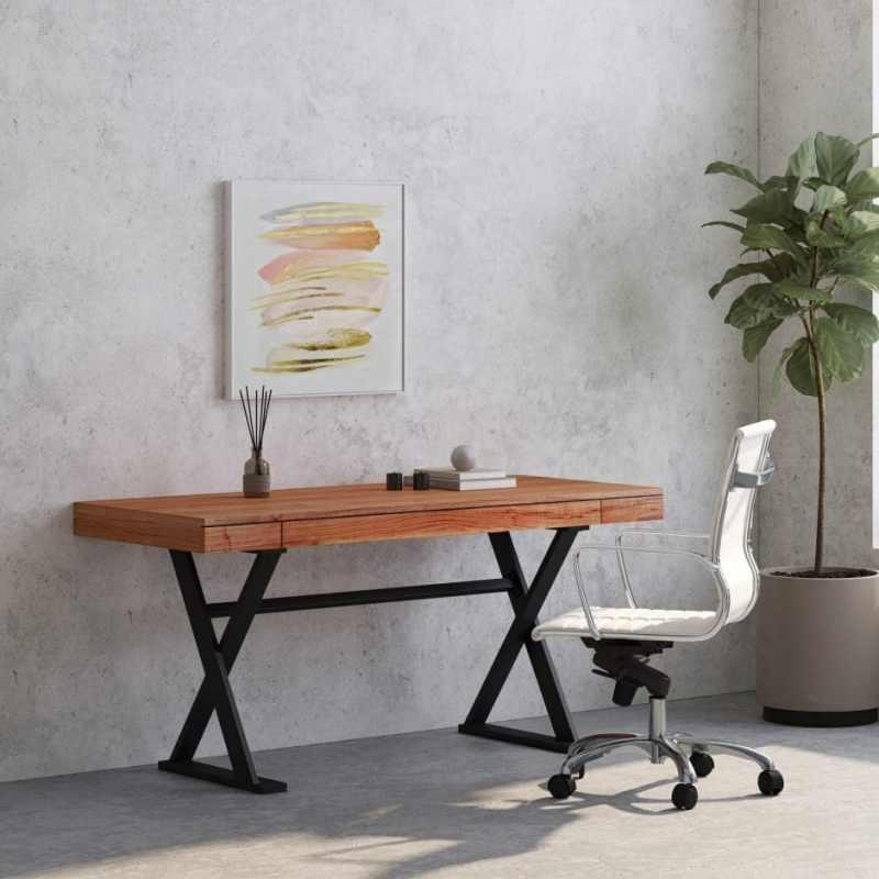 real wood writing desk walnut
