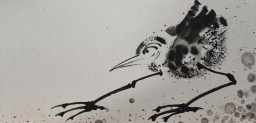 "Karen Dedrickson l Don't Stop Believing, sumi ink, 12"" x 24"""