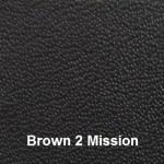 Cowhide Leather Cover Material Colour #2 Brown with Mission Embossing