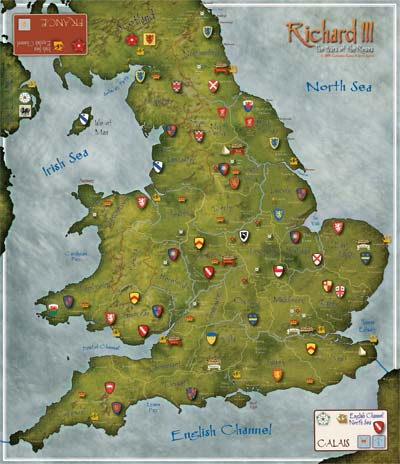 Richard III Map