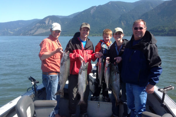 Columbia River fishing guide fishing on the Wind River