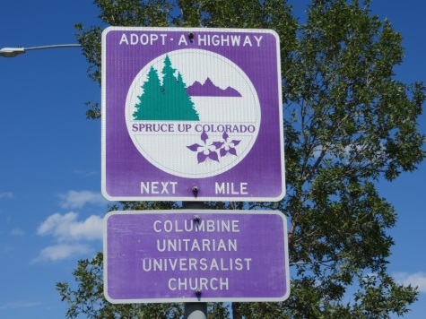 Columbine Adopt-a-Road sign