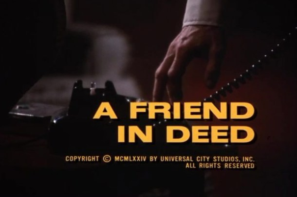 Columbo A Friend in Deed opening titles