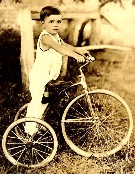 Peter Falk aged 3