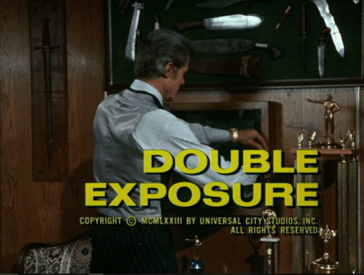 Columbo double exposure opening titles