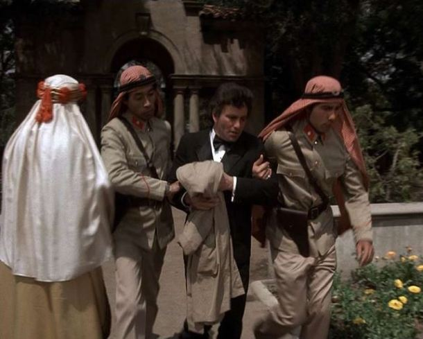 Columbo Case of Immunity garden party