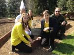 Bee Aware Team at WH Pollinator Garden w WH Chef