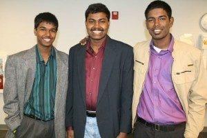 My sons Arun, Jireh and Reuben