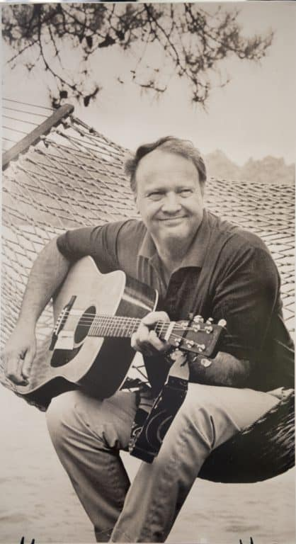 """According to Ward Briggs, Dickey enjoyed playing the guitar but was much better at writing. """"God knows he was not a good guitar player,"""" Briggs said. """"He played in between poems, which was gruesome. But boy, could he write poetry."""""""