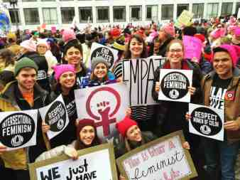 Malone Students Travel to Women's March on Washington