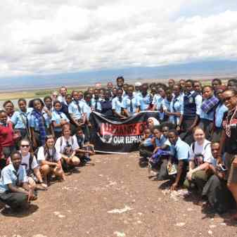 Teaching a course with Princeton and Columbia undergrads and students from a girls school during a field trip to Amboseli National Park.