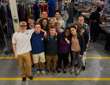 Eleven first-year students went on the Bonner Program February Break trip.