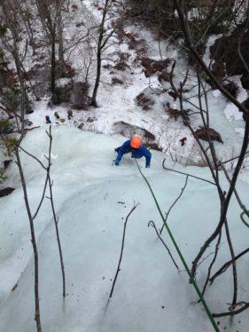 Climbing the ice