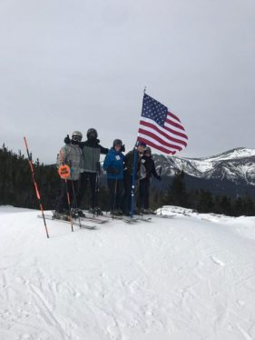 Five students braved the frigid temperatures of New Hampshire.