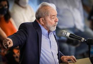 Ex-presidente Lula durante discurso na última quarta-feira, 10.