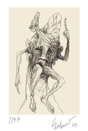 homem pensando sobre o direito de dar cabo de si, levemente embruxado, de Susano Correia.