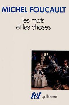 """Livro """"As Palavras e as Coisas"""" de Michel Foucault, ícone da filosofia francesa."""